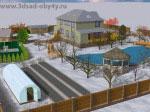 Наш Сад: 3D вид ландшафтного проекта, сезон года Декабрь