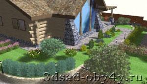 Наш Сад Кристалл, фрагмент ландшафтного проекта