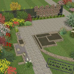 фрагмент ландшафтного проекта or_flowerbad