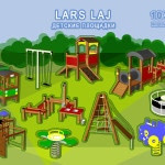 библиотека 3Д моделей №12 LARS LAJ детские площадки