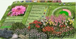 цветники из растений энциклопедии программы Наш Сад