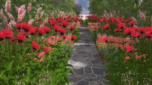 3Д визуализация цветников в программе Наш Сад