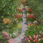 цветочная дорожка из ландшафтного проекта sdob-a01