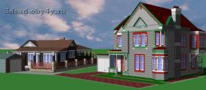 3D здания в редакторе Строение