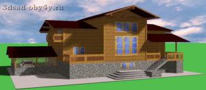 3D модель сложного здания