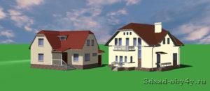 пример 3D моделей зданий из дополнительных библиотек
