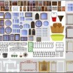 текстуры окон, дверей и элементов зданий