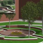 визуализация дизайна дворика