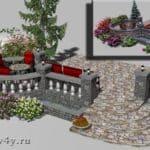 визуализация кафе на веранде