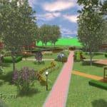 парк придомовой территории, фрагмент